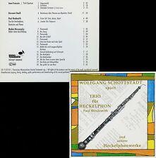 FRANÇAIX HINDEMITH DAELLI MUSSORGSKY works for heckelphon W. SCHOTTSTADT