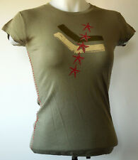 NEW NWT Rock Steady Green Star Military Print Punk S/S T-Shirt L