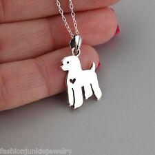 Poodle Necklace - 925 Sterling Silver - Poodle Pendant Puppy Dog NEW Pet Love