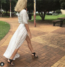 Auguste The Label Womens Size 6 Leopard Wrap Maxi Dress