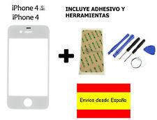 CRISTAL EXTERIOR PANTALLA FRONTAL + ADHESIVO + HERRAMIENTAS IPHONE 4 4S BLANCO