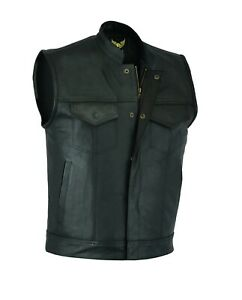Sons of Anarchy SOA Motorcycle Biker Genuine Leather Waistcoat Vest Club Style