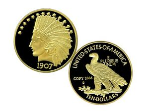 1907 INDIAN HEAD GOLD EAGLE ARCHIVAL EDITION COIN PROOF VALUE $99.95