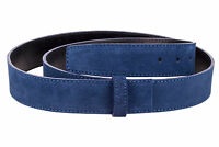 Blue Suede Leather Belt Strap Mens Womens Designer belts Big and Tall Capo Pelle