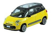 New Burago 1/43 Diecast Model Car - Fiat 500L in Yellow - 'Street Fire' Range