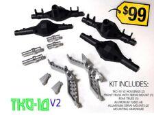 ottsix Carreras tko-10v2 Eje vivienda Juego / Cerchas 1/10 Rock Crawler SCX10