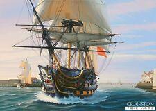 Naval war art postcard Battle of Trafalgar HMS Victory Admiral;Nelson Portsmouth