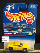 HOT WHEELS #993 -1 FERRARI 348 YELLO 5SP MALAY 00 BLU CARD AMER