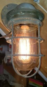 6 Russell Stoll Brass Explosion Proof Lights Industrial Nautical Maritime Lovell