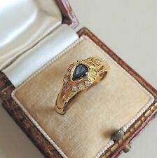 Beautiful 18ct Gold Sapphire and Diamond Buckle Ring