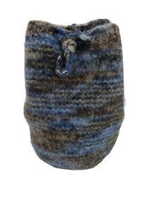 The Packett Backpack Cinch Drawstring Bag Wedgewood Blue Merino Wool Handmade