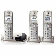 New Panasonic KX-TGD213N Dect6.0 cordless phone 3-Handset Landline Telephone