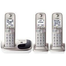 New Panasonic KX-TGD213N Dect6.0 cordless phone 3-Handset Landline Telephone