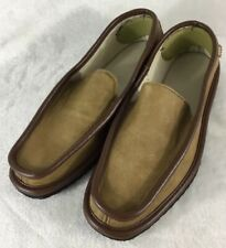 L.B. Evans Deerking Brown Deerskin Leather Slip On Loafers 827-1 Men's Size 8M