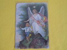 1 Bogen Poesiebilder Oblaten Glanzbilder 198 Schutzengel ENGEL Kind  groß
