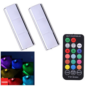 Multicolor Car Interior RGB LED Light LED Ambient Lamp w/Wireless Remote Control