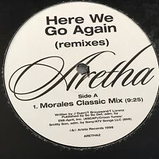 "ARETHA FRANKLIN Here We Go Again 1998 UK 6-track advance promo double 12"" vinyl"