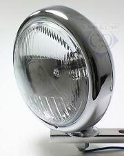 Scheinwerfer - Motorrad - Flat - Fernscheinwerfer- 4,5 Zoll - verchromt