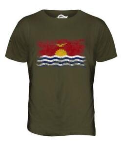Kiribati Drapeau Délavé pour Hommes Haut T-Shirt I-Kiribati Maillot de Football