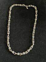 Vintage Premier Designs Silver Tone Twist Bar Choker Necklace