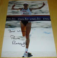 Paula Radcliffe marathon remettre personnellement signé autographe 12x8 photo
