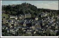 Linz Rheinland-Pfalz Postkarte 1958 gelaufen Teilansicht Wald Burg Schloß
