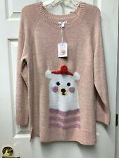 Lauren Conrad $50 Holiday Christmas Xmas Polar Bear Tunic Sweater Women's Sz Xl