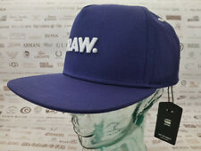 G-STAR RAW Flat Brim Cap OBARUH Snapback Blue Hat Baseball Style O/S Caps BNWT