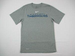 Minnesota Timberwolves Nike Dri-Fit Short Sleeve Shirt Men's New without Tags