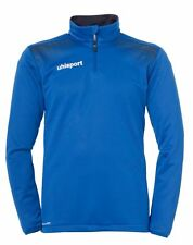 Uhlsport Mens Sports Football Training 1/4 Zip Track Top Sweatshirt Azurblue .