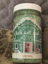 One Bath & and Body Works Bath Salt Soak Vanilla Bean Noel 8 oz New!
