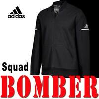 LIMITED MEN'S ADIDAS TEAM SQUAD BOMBER JACKET CLIMALITE SPORT BLACK MEDIUM