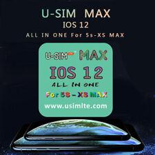 U-SIM LTE Max Nano Unlock Card For iPhone XS XR/X/8/7/6/5S iOS 12.3 12 4G Lot