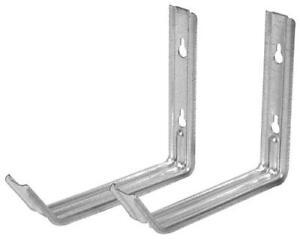 """Steel Utility 7"""" L Bracket Hanger Wall Mount 2 piece Ladder Garage Storage Hook"""