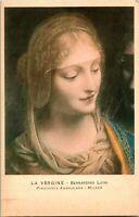 Vintage Postcard - La Vergine - Bernadino Luini - Pinacoteca Ambrosiana Milano