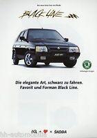 Skoda Prospekt 1993 Forman Favorit Black Line Autoprospekt Sondermodell brochure