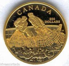 Canada 200 Dolares oro 1987 @ Pesca  @