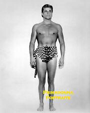"BUSTER CRABBE 8X10 Lab Photo 1933 ""TARZAN"" HANDSOME LOIN CLOTH ANIMAL PORTRAIT"