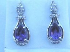 Topaz Amethyst Sterling Silver Fine Earrings