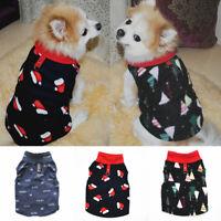 Christmas Cute Pet Dog Clothes Sweater Warm Fleece Letter Print Cat Puppy Vest