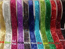 Glitter Velvet Ribbon-Jewellery-Wedding-Christmas-Gift Wrap Assorted colour