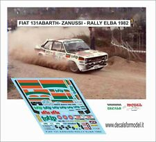 DECALS FIAT 131 ABARTH ZANUSSI RALLY ELBA 1982
