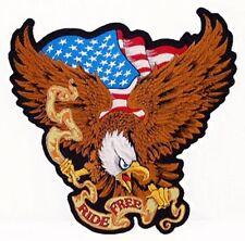 Parche XL EE.UU. Águila Viaje Libre 29x28cm RIDE FREE Eagle patch mover Weste