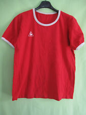 Jersey le coq sportif vintage red 70's cotton nimes olympique shirt-m