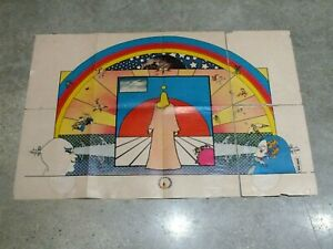 JESUS By Peter Max original Art Poster 1969