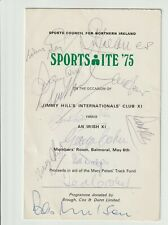More details for jimmy hill's international x1 - 1975 menu signed 12 inc haynes, greaves, cohen
