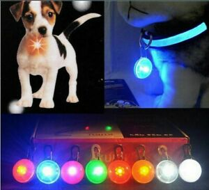 Waterproof Pet Dog Cat Collar LED Night  Safety Clip Tag Flashing Luminous Light