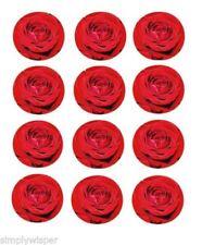 Decoración de color principal rojo para tartas de fiesta, cupcakes