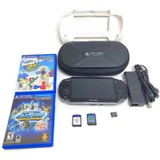Sony PS Vita PCH-1001 OLED 16gb Memory Card Case Charger 4 Games Battle Royale