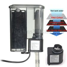 Aquarium Fish Tank External Hang On Water Filter Surface Skimmer 300L/H 220-240V